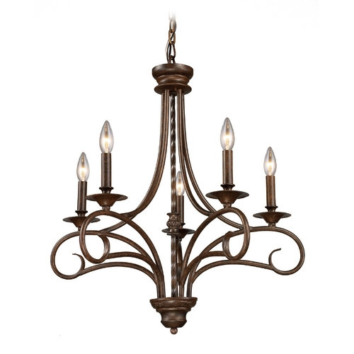 Elk Lighting Chandelier in Antique Bronze Finish 15042/5