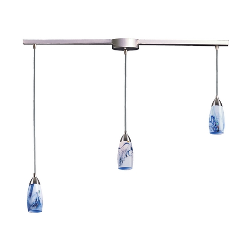 Elk Lighting Modern Multi-Light Pendant Light with Art Glass and 3-Lights 110-3L-MT