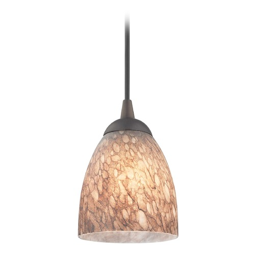 Design Classics Lighting Design Classics Gala Fuse Neuvelle Bronze LED Mini-Pendant Light with Bell Shade 682-220 GL1016MB