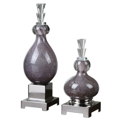 Uttermost Lighting Uttermost Charoite Purple Glass Bottles Set of 2 19842