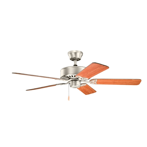 Kichler Lighting Kichler Lighting Renew Brushed Nickel Ceiling Fan Without Light 330100NI