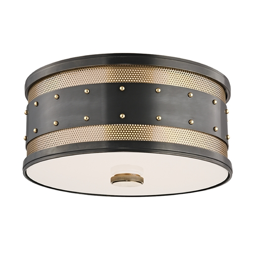 Hudson Valley Lighting Hudson Valley Lighting Gaines Aged Old Bronze Flushmount Light 2202-AOB