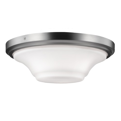 Feiss Lighting Feiss Lighting Summerdale Satin Nickel Flushmount Light FM414SN
