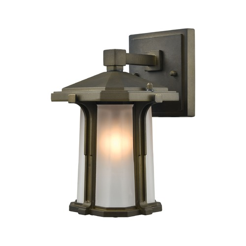 Elk Lighting Elk Lighting Brighton Smoked Bronze Outdoor Wall Light 87090/1