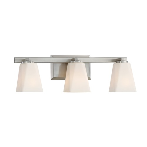 Designers Fountain Lighting Designers Fountain Cornerstone Satin Platinum Bathroom Light 88303-SP
