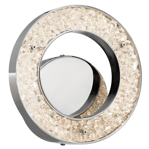 Elan Lighting Elan Lighting Crushed Ice Chrome LED Sconce 83414