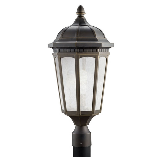 Kichler Lighting Kichler Post Light with White Glass in Rubbed Bronze Finish 11014RZ