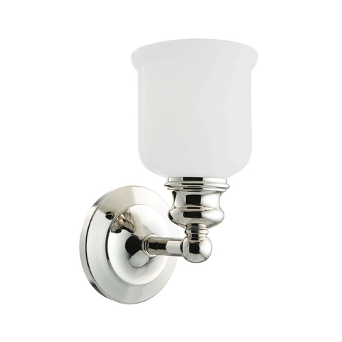 Hudson Valley Lighting Sconce with White Glass in Polished Nickel Finish 2301-PN