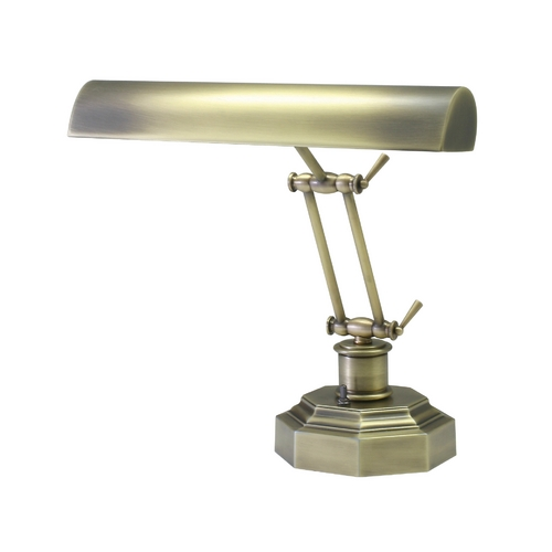 House of Troy Lighting Piano / Banker Lamp in Antique Brass Finish P14-203-AB