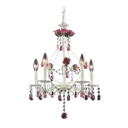 Elk Lighting Modern Mini-Chandelier in Antique White Finish 4054/5