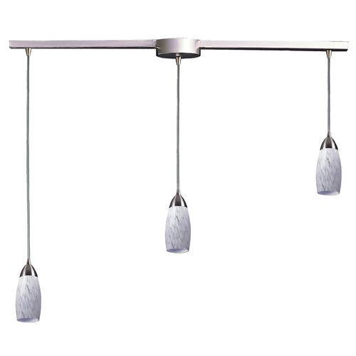 Elk Lighting Modern Multi-Light Pendant Light with Art Glass and 3-Lights 110-3L-SW