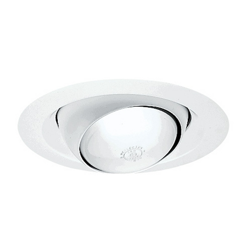 Juno Lighting Group Economy Eyeball Trim for 6-Inch Recessed Housing 249W-WH