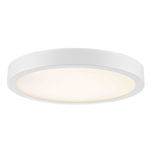 Design Classics Lighting Flat LED Light Surface Mount 8-Inch Round White 2700K 1199LM 8279-WH T16