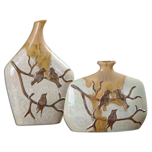 Uttermost Lighting Uttermost Pajaro Ceramic Vases Set of 2 19843
