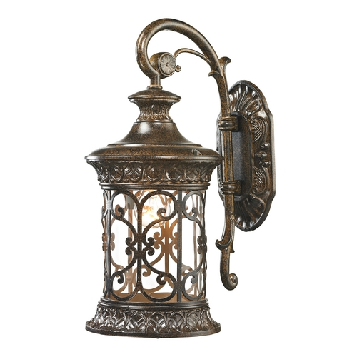 Elk Lighting Outdoor Wall Light with Clear Glass in Hazelnut Bronze Finish 45080/1