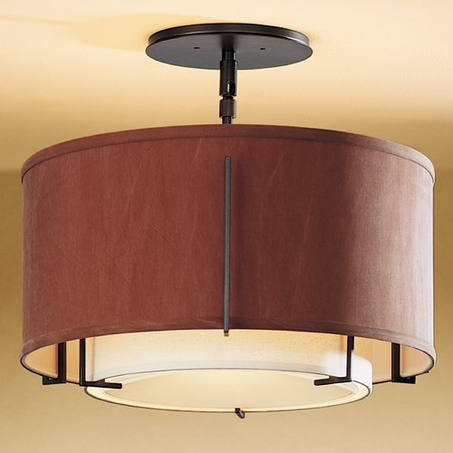 Hubbardton Forge Lighting Hubbardton Forge Lighting Exos Dark Smoke Semi-Flushmount Light 126501-07-DAAD