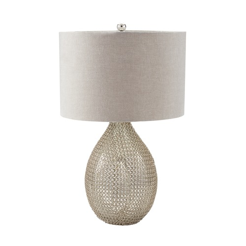 Dimond Lighting Dimond Lighting Silver Table Lamp with Drum Shade 983-007