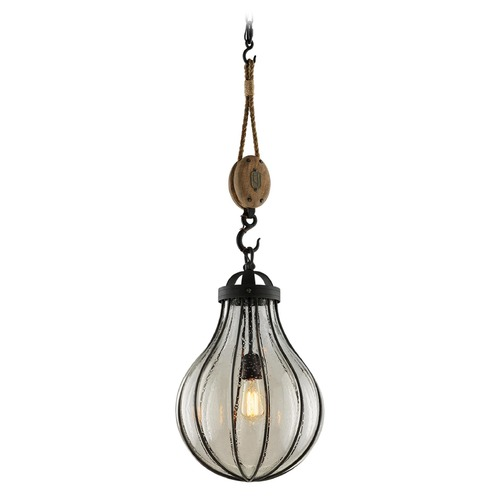 Troy Lighting Troy Lighting Murphy Vintage Iron Pendant Light with Bowl / Dome Shade F4905
