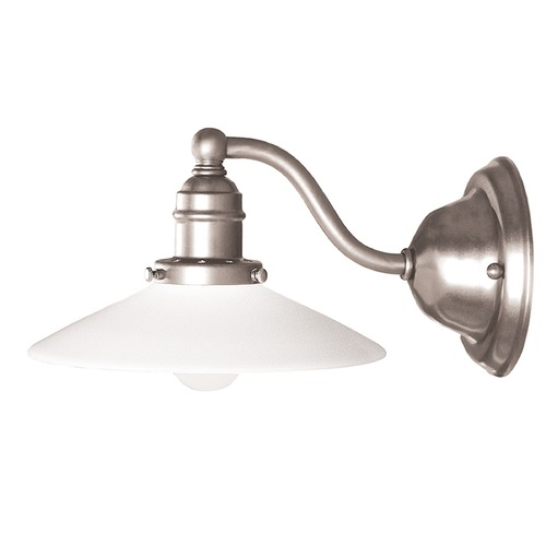 Hudson Valley Lighting Sconce with White Glass in Satin Nickel Finish 3911-SN