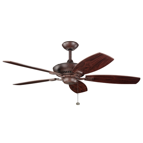 Kichler Lighting Kichler Ceiling Fan Without Light in Tannery Bronze Finish 300117TZ