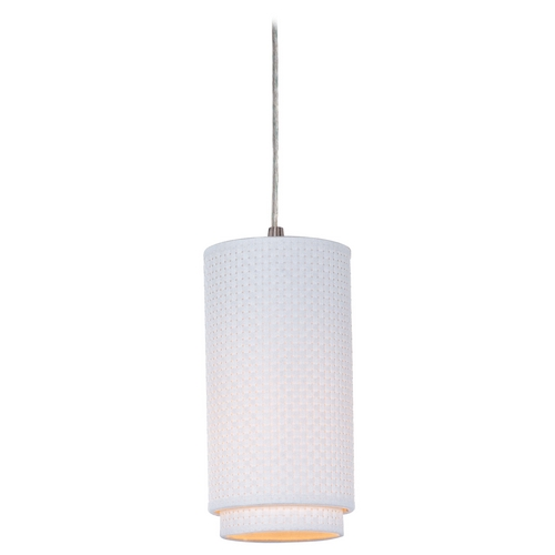 ET2 Lighting Modern Mini-Pendant Light with White Shade E95040-100SN