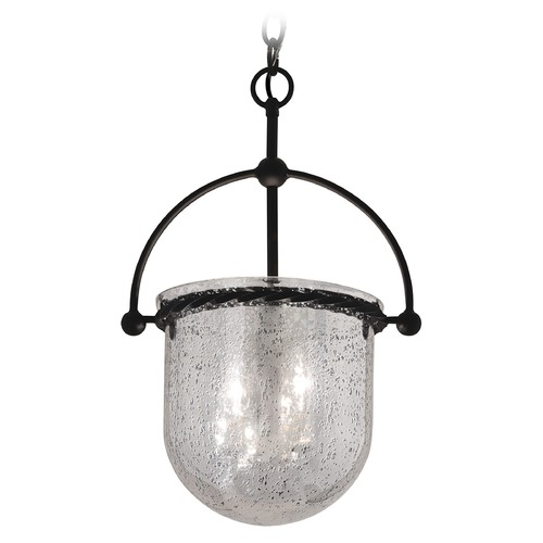 Troy Lighting Pendant Light with Mercury Glass in Old Iron Finish F2563