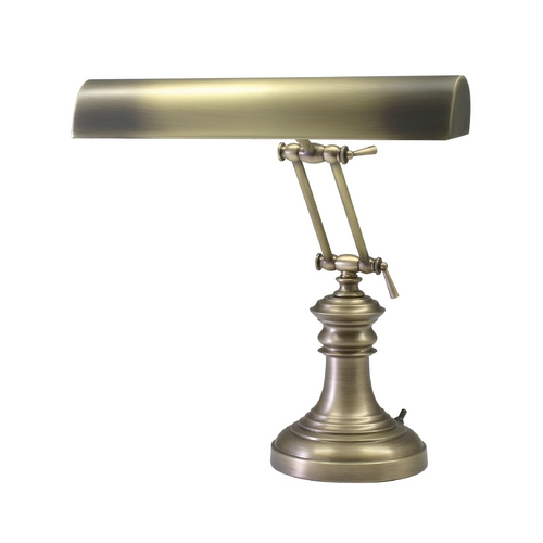 House of Troy Lighting Piano / Banker Lamp in Antique Brass Finish P14-204-AB