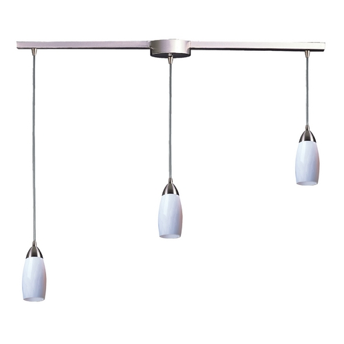 Elk Lighting Modern Multi-Light Pendant Light with Art Glass and 3-Lights 110-3L-WH