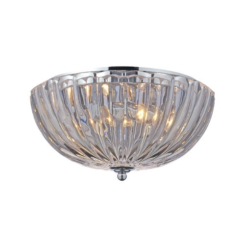 Elk Lighting Flushmount Light with Clear Glass in Polished Chrome Finish 31241/2