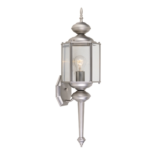 Designers Fountain Lighting Outdoor Wall Light with Clear Glass in Pewter Finish 1103-PW