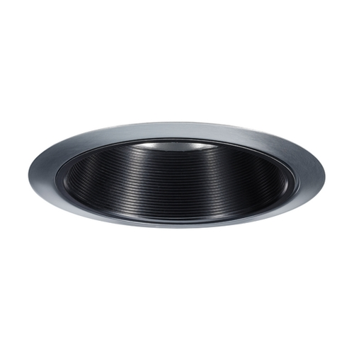 Juno Lighting Group Juno Black Baffle Satin Chrome Recessed Trim - 6-Inch 24 BSC
