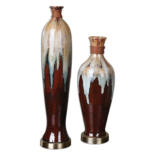 Uttermost Lighting Uttermost Aegis Ceramic Vases Set of 2 19844