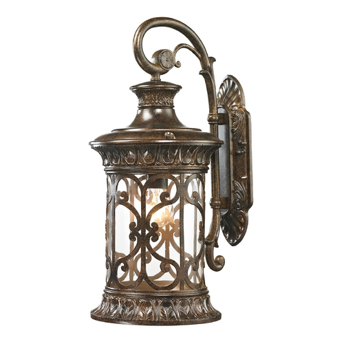 Elk Lighting Outdoor Wall Light with Clear Glass in Hazelnut Bronze Finish 45081/1