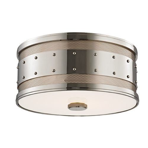 Hudson Valley Lighting Hudson Valley Lighting Gaines Polished Nickel Flushmount Light 2202-PN