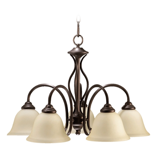 Quorum Lighting Quorum Lighting Spencer Oiled Bronze Chandelier 6410-5-86