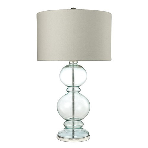 Dimond Lighting Dimond Lighting Light Blue Table Lamp with Drum Shade D2556