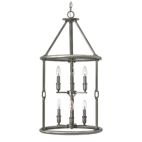 Hinkley Lighting Hinkley Lighting Dakota Polished Antique Nickel Pendant Light 4784PL