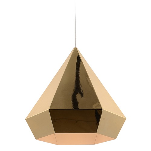 Avenue Lighting Avenue Lighting Doheny Ave. Copper Chrome Steel Pendant Light with Conical Shade HF-9115-GL