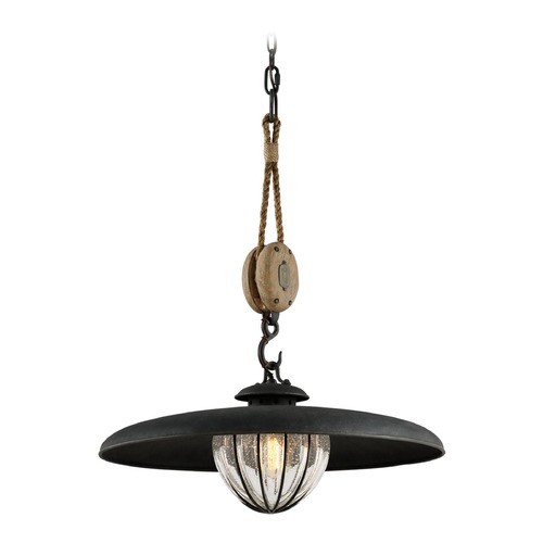 Troy Lighting Troy Lighting Murphy Vintage Iron Pendant Light with Bowl / Dome Shade F4906