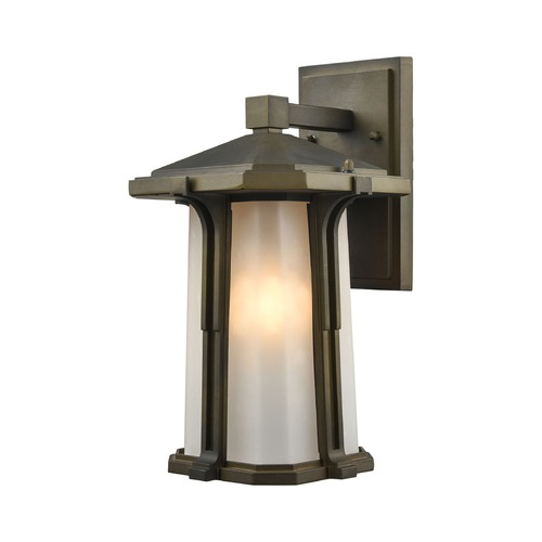 Elk Lighting Elk Lighting Brighton Smoked Bronze Outdoor Wall Light 87091/1
