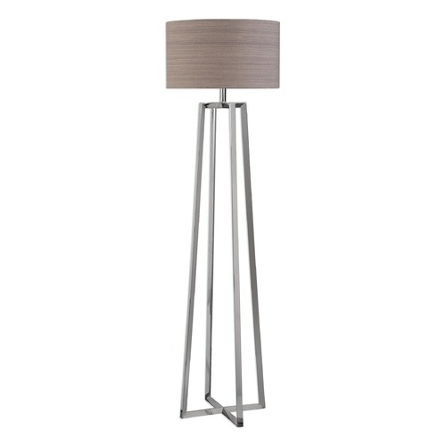 Uttermost Lighting Uttermost Keokee Polished Nickel Floor Lamp 28111