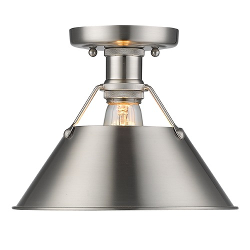 Golden Lighting Golden Lighting Orwell Pw Pewter Flushmount Light 3306-FM PW-PW