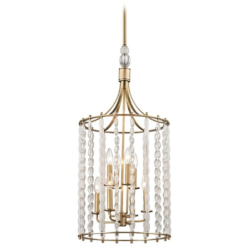 Hudson Valley Lighting Hudson Valley Lighting Whitestone Aged Brass Pendant Light 9318-AGB