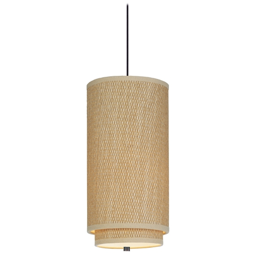 ET2 Lighting Modern Mini-Pendant Light with Brown Shade E95040-101OI