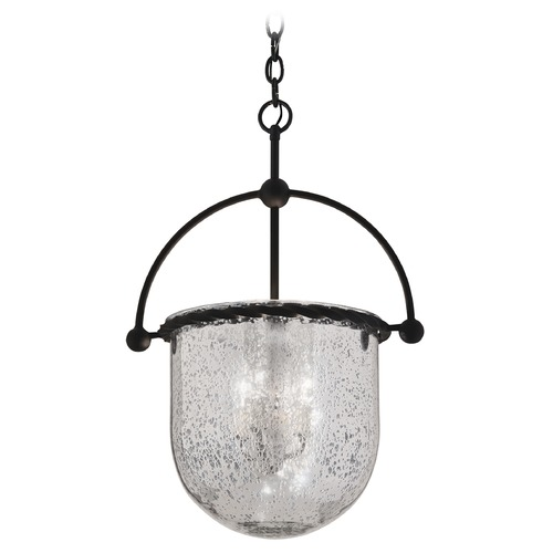 Troy Lighting Pendant Light with Mercury Glass in Old Iron Finish F2564