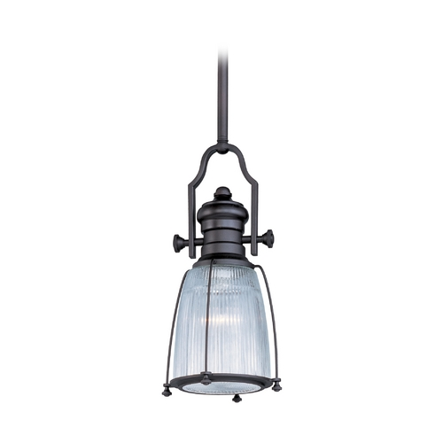 Maxim Lighting Maxim Lighting Hi-Bay Bronze Mini-Pendant Light with Bowl / Dome Shade 25002CLBZ