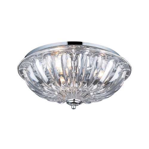 Elk Lighting Flushmount Light with Clear Glass in Polished Chrome Finish 31242/3