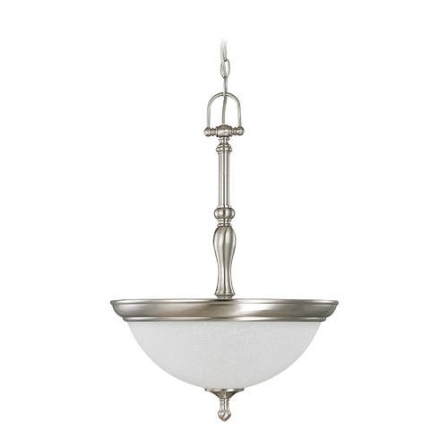 Nuvo Lighting Pendant Light with White Glass in Brushed Nickel Finish 60/2782