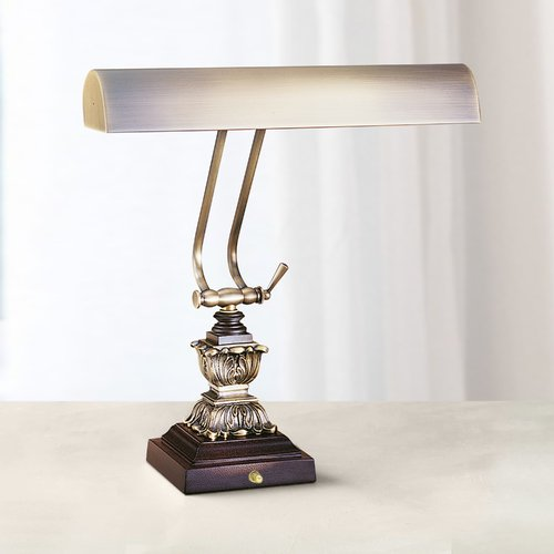 House of Troy Lighting Piano / Banker Lamp in Antique Brass Finish P14-232-C71