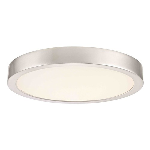 Design Classics Lighting Flat LED Light Surface Mount 8-Inch Round Satin Nickel 2700K 1199LM 8279-SN T16